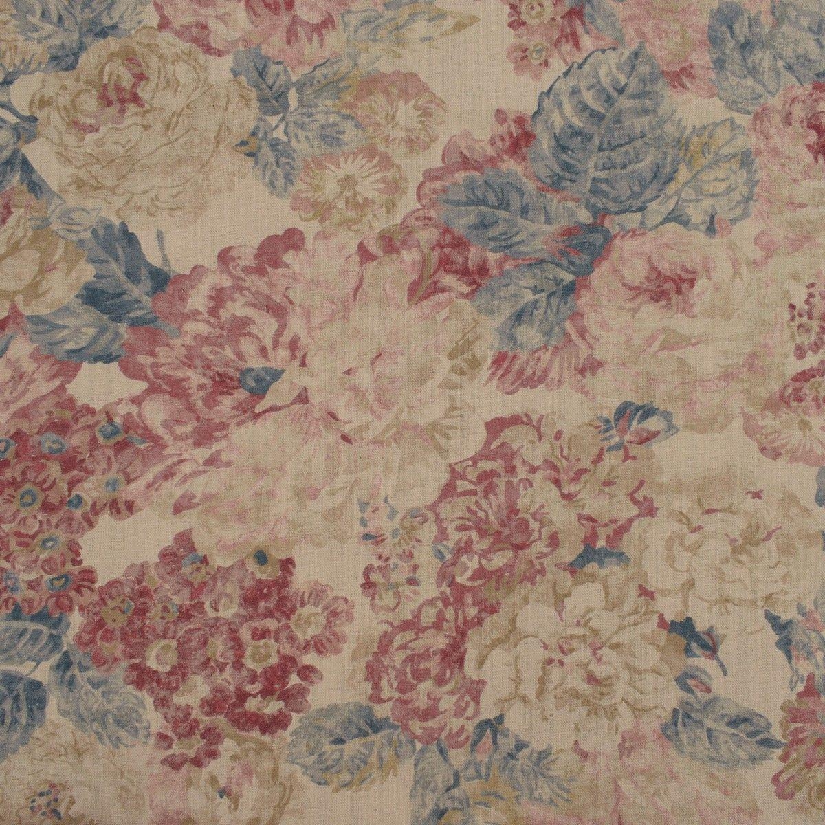 Linen Union Liseron Rouge Fabric Blinds Large Scale Floral