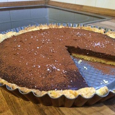 Tarte au chocolat et caramel salé - Schoko-Karamell-Tarte