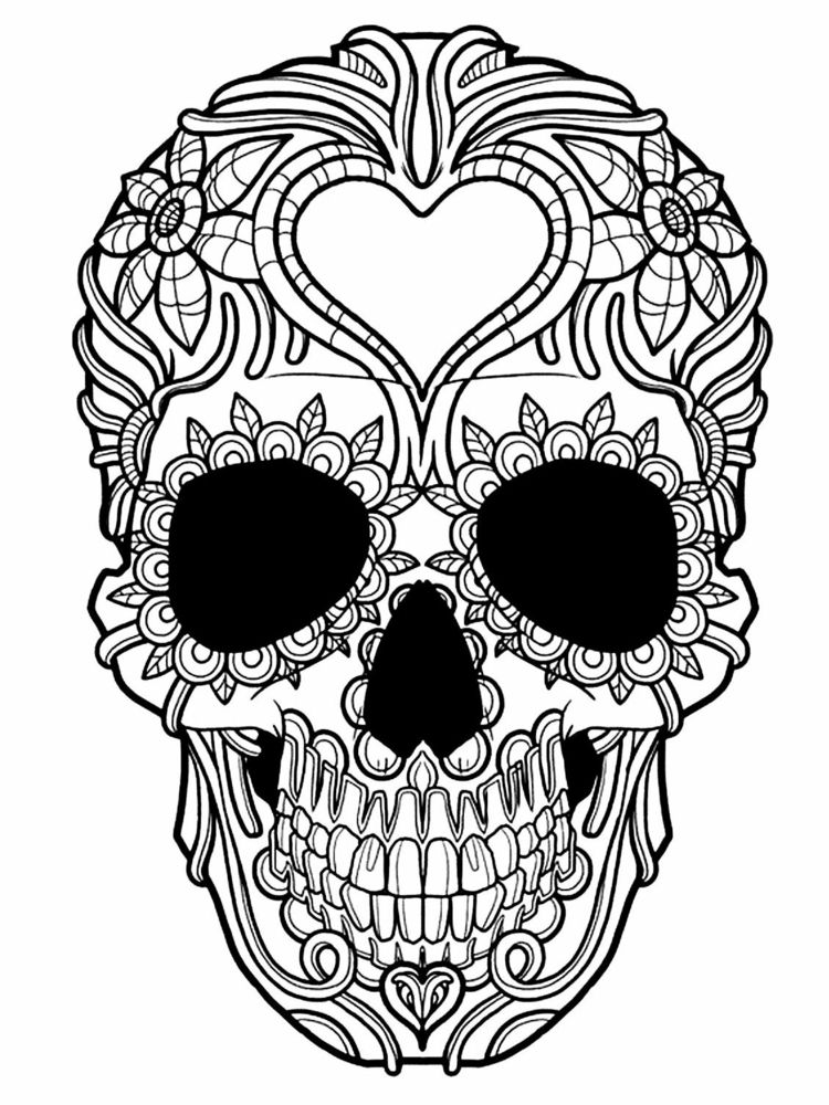 zentangle vorlagen sugar skull halloween blumen ausmalen erwachsene ideen mandala pinterest. Black Bedroom Furniture Sets. Home Design Ideas