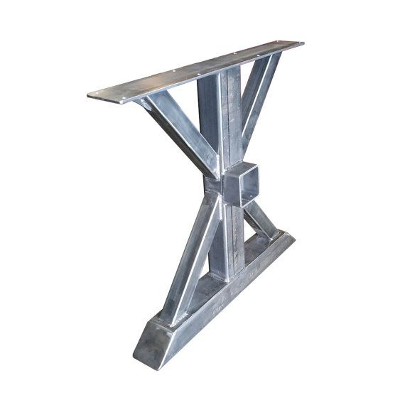 Metal Trestle Table Legs With 4x4 Crossbeam Bracket