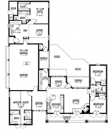 Separate apartment on main level hwbdo73936 country for Builderhouseplans com