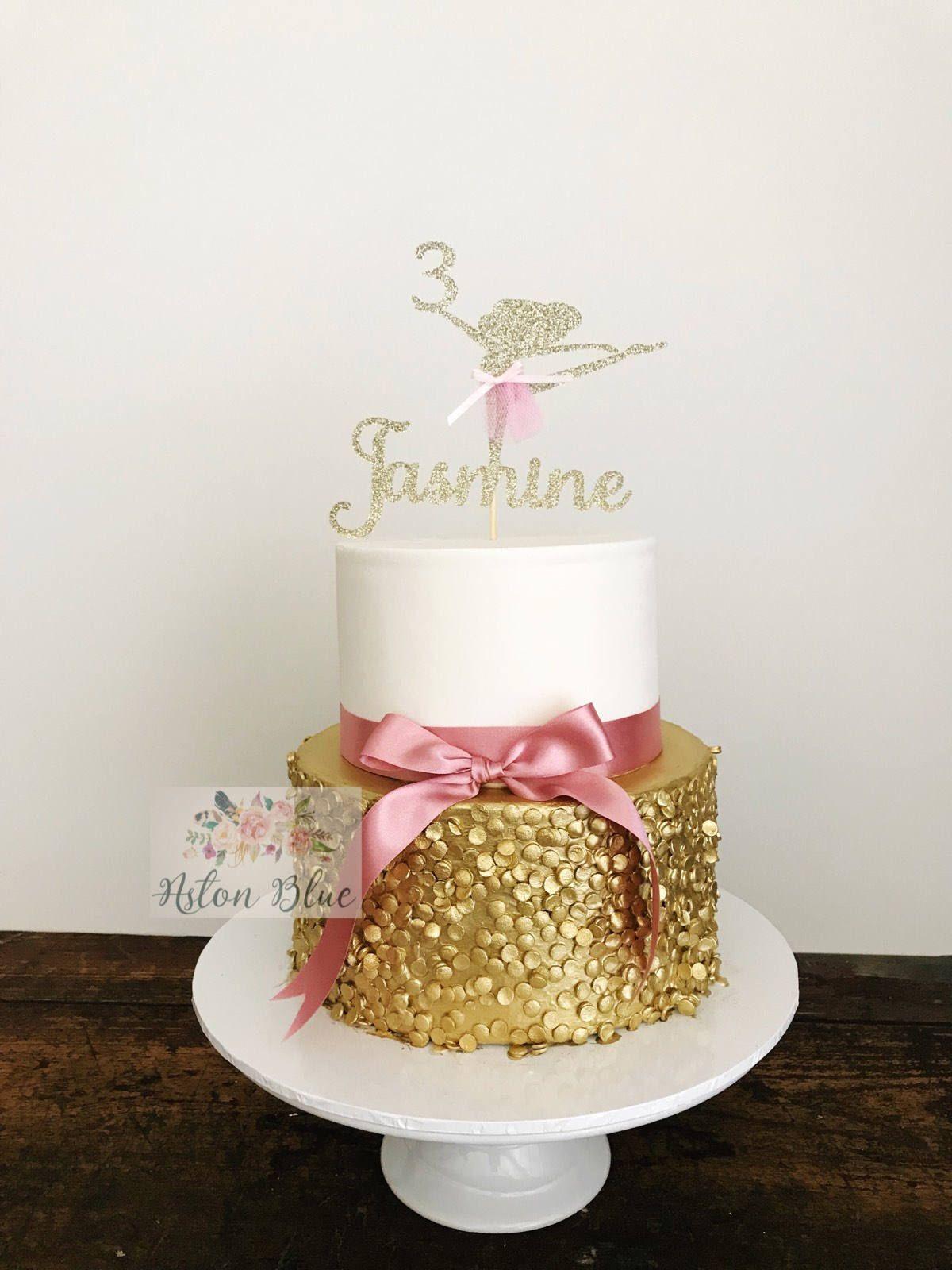 Ballerina Cake Topper Ballerina Party Ballerina Birthday