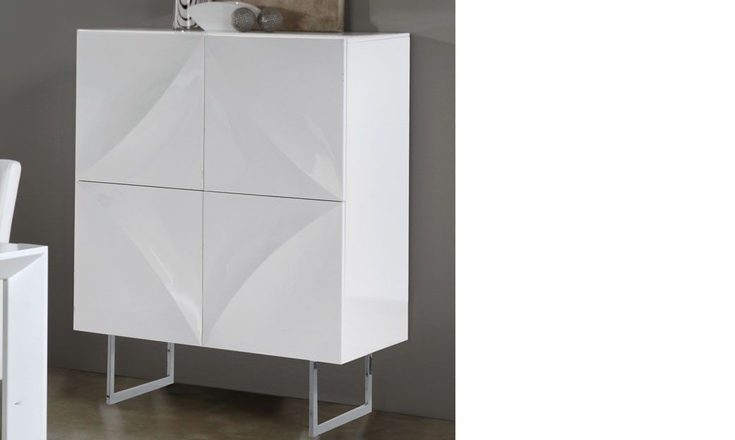 Buffet blanc laqué design BEKI | Buffet blanc laqué | Pinterest ...