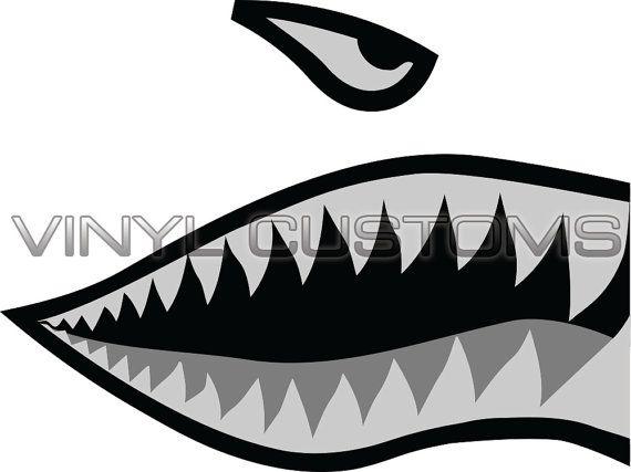 Halloween WWII Flying Tiger Fighter Shark Art All Over Mens Black Back T Shirt