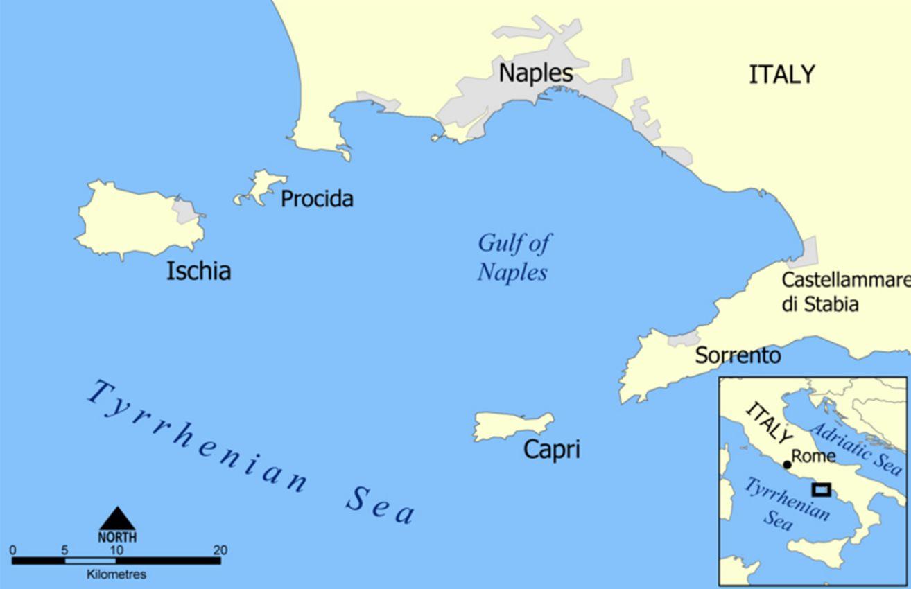 Zum Grossbild Anklicken Italien Karte Insel Capri Capri Italien