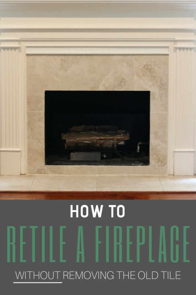 How To Tile Over An Existing Fireplace Surround Fireplace Tile Surround Fireplace Remodel Diy Fireplace Surrounds