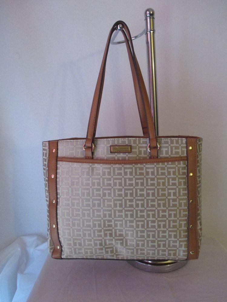 7a378963003 Tommy Hilfiger Beige Handbag Purse Authentic Shopper 6939508-235 Brand New  Tags #TommyHilfiger #Shopper