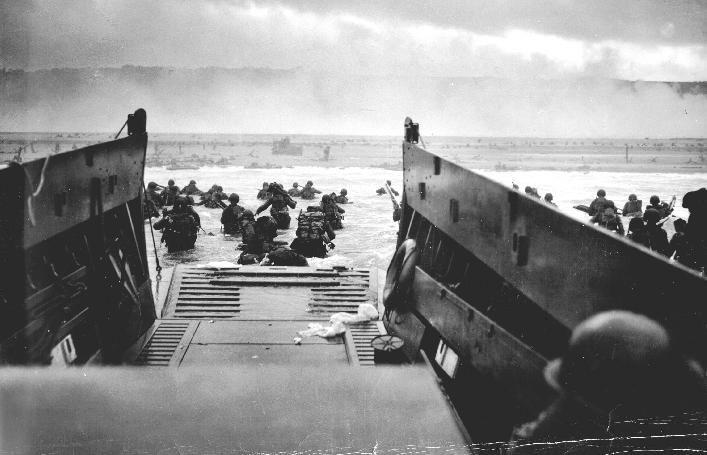 Desembarco de Normandia en la Segunda Guerra Mundial. Junio de 1944.
