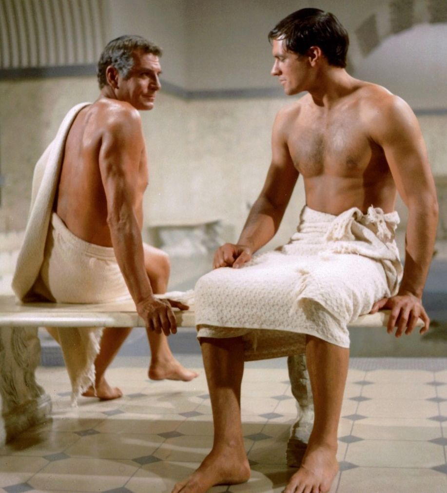 Laurence olivier spartacus quotes - Laurence Olivier John Gavin In Spartacus 1960