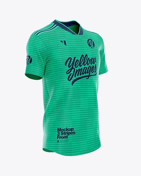 Download Football 3 Stripes V-Neck Shirt Jersey Mockup PSD File ...