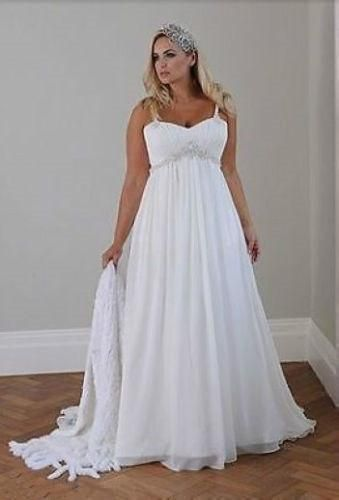 Discount Plus Size Casual Beach Wedding Dresses 2017 Spaghetti ...