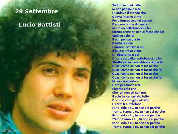 29 Settembre Di Lucio Battisti E Mogol E L Equipe 84 Caffebook Testi Delle Canzoni Canzoni Battisti