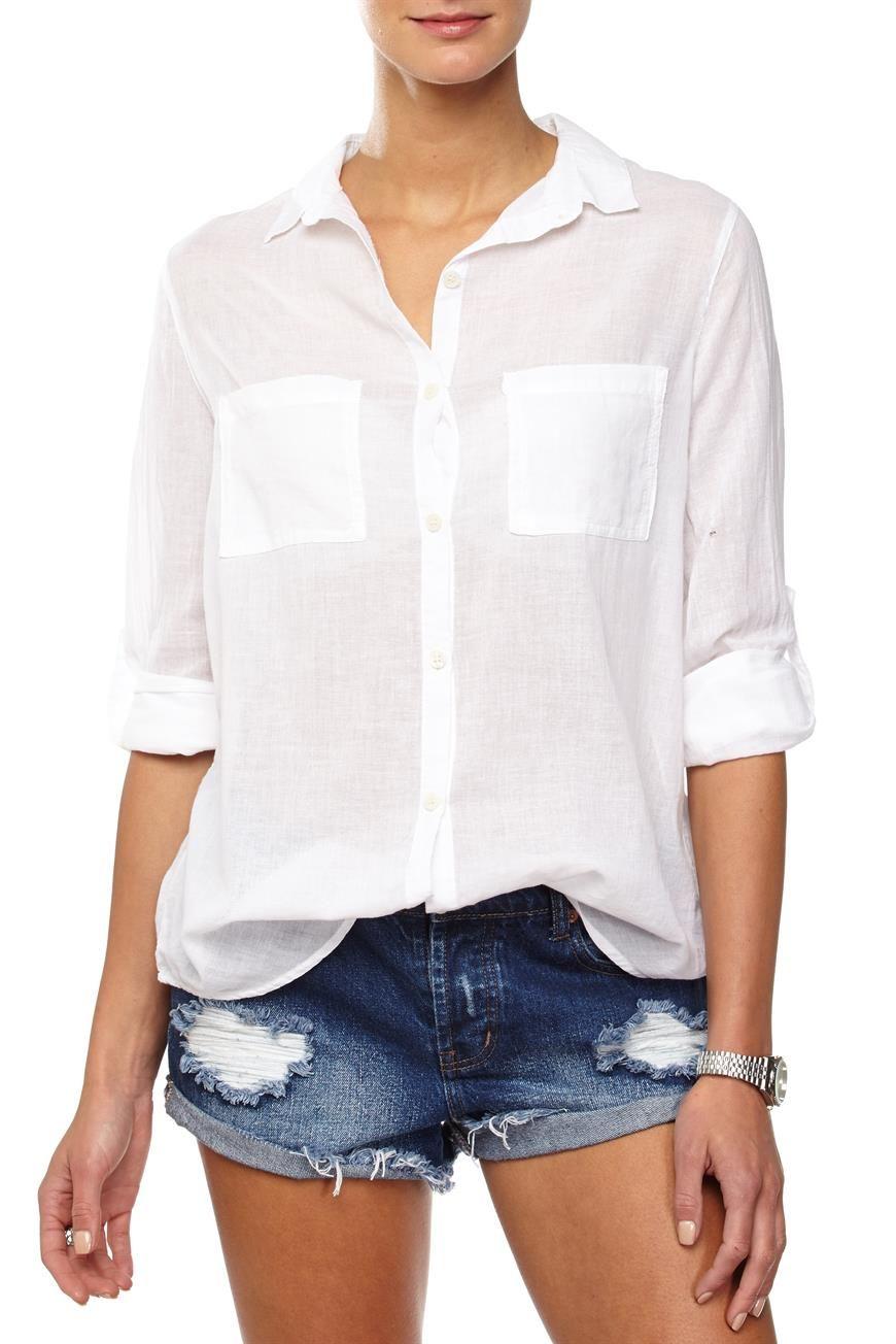 giselle cotton shirt, WHITE   Clothes   Pinterest   Cotton ...
