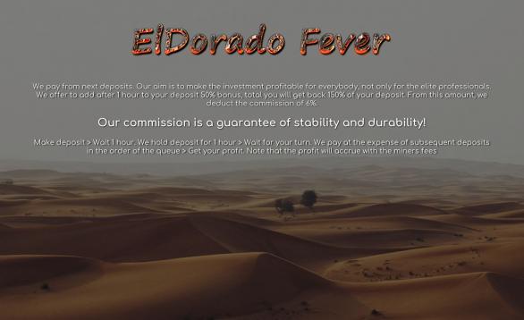 Подробнее о проекте читайте перейдя по ссылке ниже ElDorado Fever #hyip #хайп #hyipzanoza #новыйхайп #инвестиции