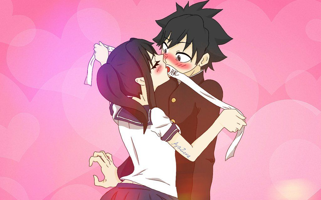 Yandere simulator - Ayano and Budo - Kiss by AyaZone on DeviantArt