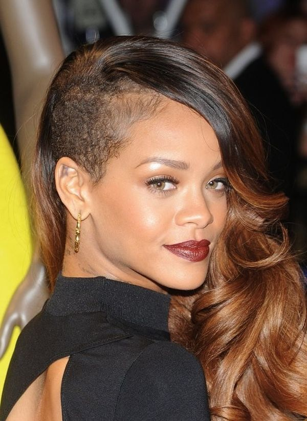 Celebrity Trend 12 Amazingly Feminine Side Shaved Haircuts Long Hair Styles Cornrow Hairstyles Hair Styles