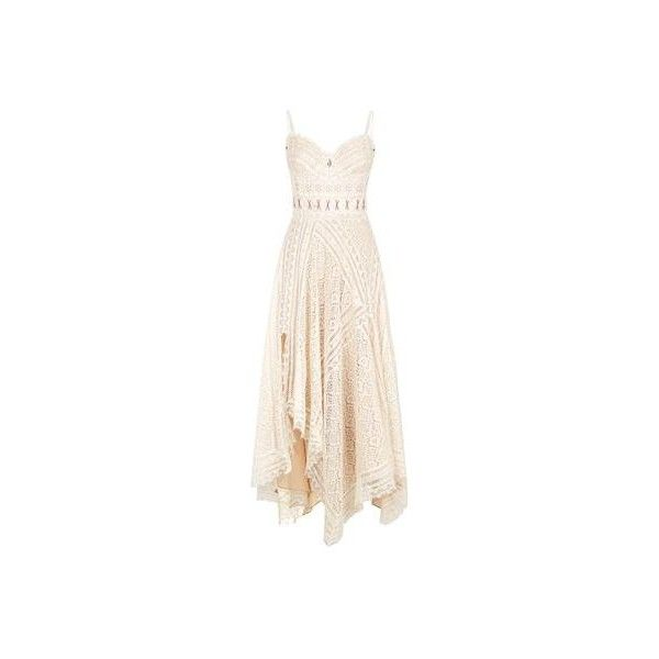 Alexander McQueen Sea Fern Embroidered Lace Camisole Dress (£5,799) ❤ liked on Polyvore featuring dresses, lace camisole, pink camisole, embroidered lace dress, lace up corset and corset dresses