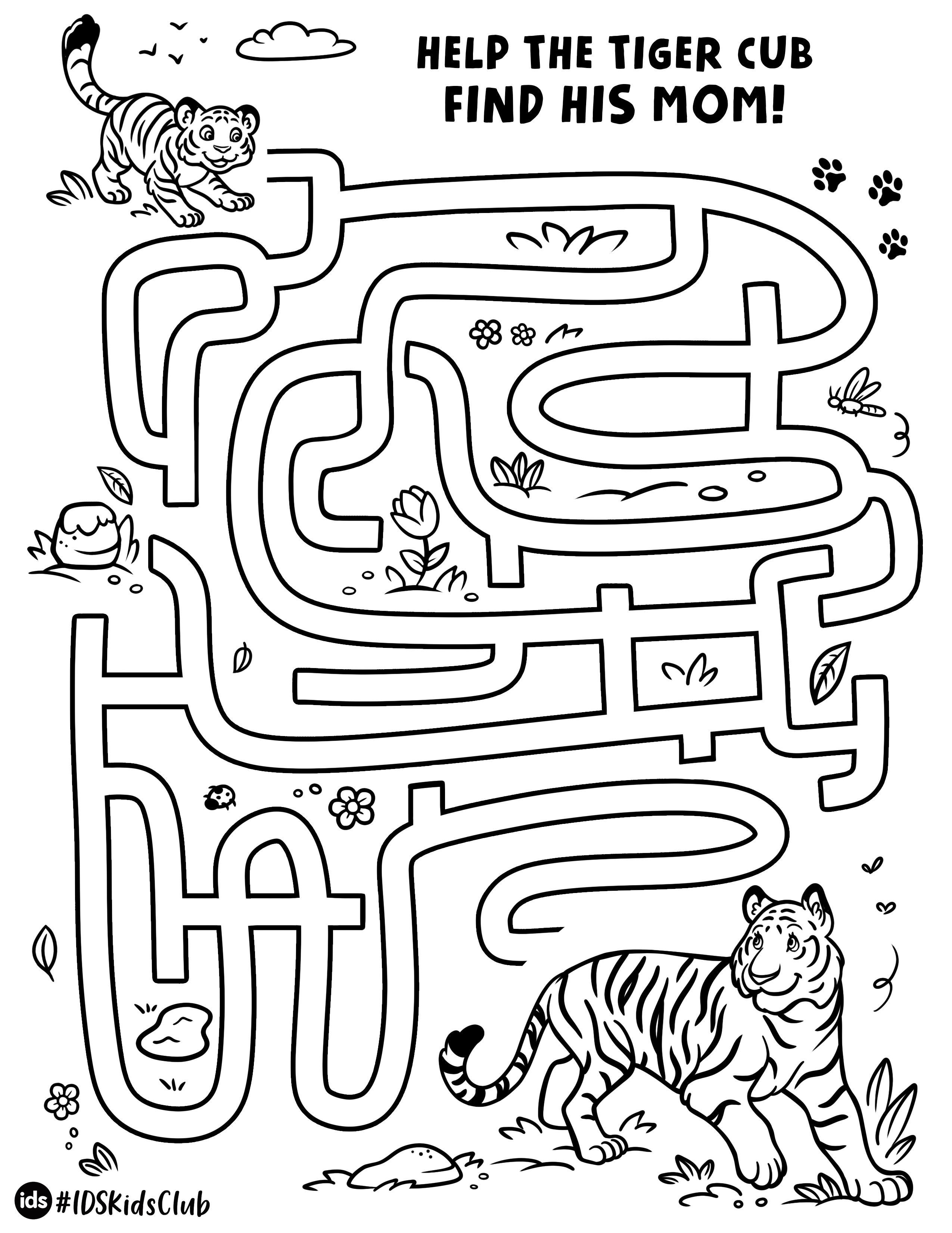 Jungle Maze Activity Sheet In
