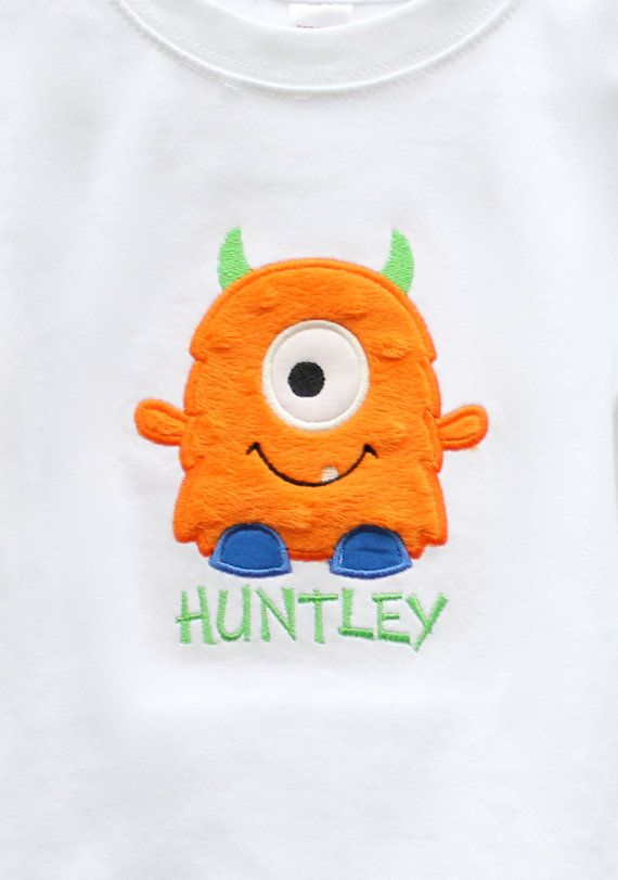 Hey, I found this really awesome Etsy listing at http://www.etsy.com/listing/81525761/personalized-little-monster-tshirt