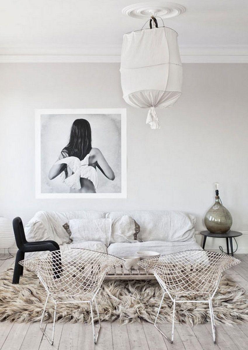 Love this super shaggy fur rug | interior | Pinterest | Haus ideen ...