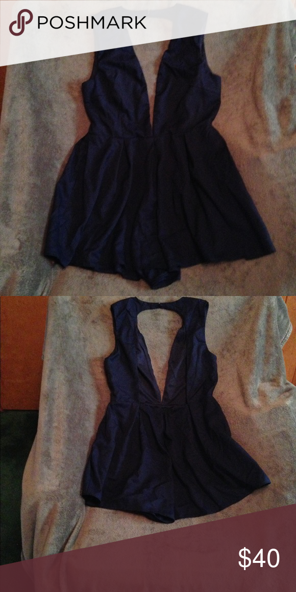 f4e993f4b8b8 Navy blue romper. Never worn mint condition Super cute   super sexy! But  sorry