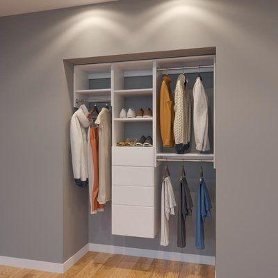Rebrilliant Clayton 60 W Organizer Closet System Finish White