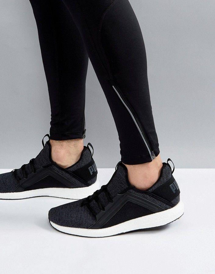 Puma Running Mega NRGY Knit Sneakers In Black 19037101  5d7fc15e6