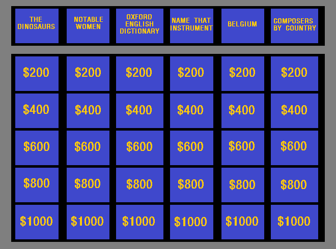 Try To Beat The Jeopardy Contestants In This Category  Ha