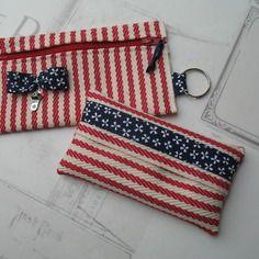 Porte monnaie et range mouchoirs / accessoires de sac en toile à espadrille