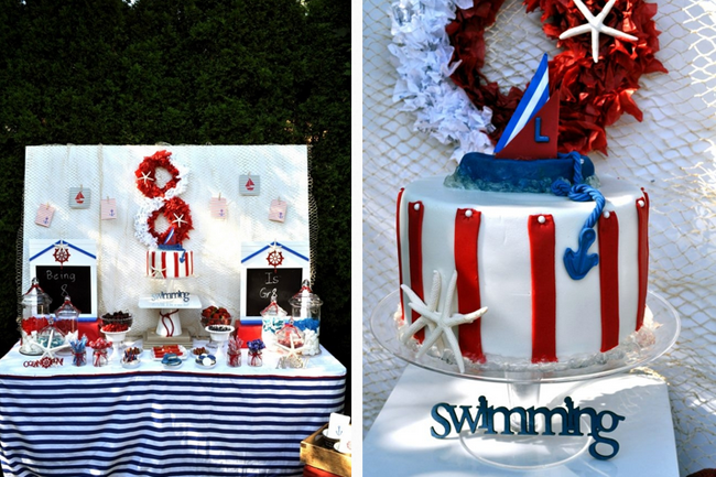 24 first birthday party ideas themes for boys - Nautical Party Decorations