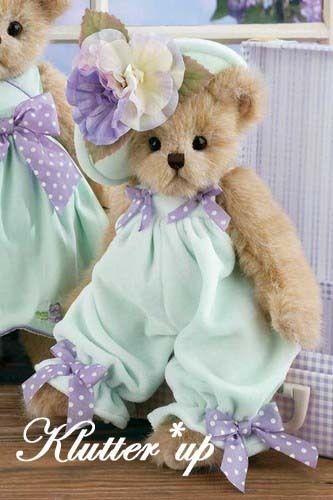 "Bearington Bear Girl Doll #143254 PIPPA PANSY 14"" Spring 2012"