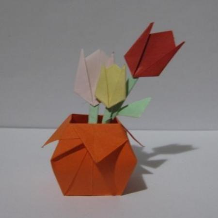 Diy Crafts Diy Make Origami Vase Paper Vase Diy Crafts