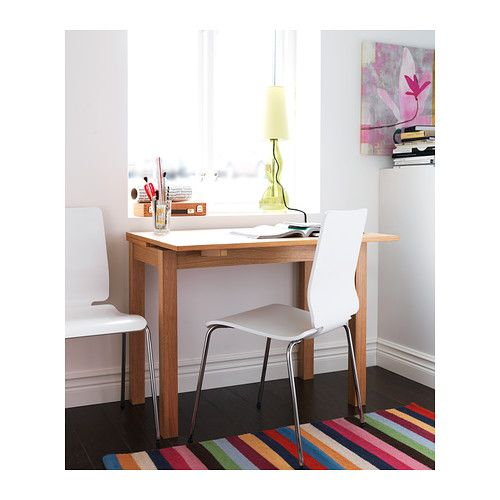 Bjursta Extendable Table Oak Veneer 50 70 90x90 Cm Ikea Dining