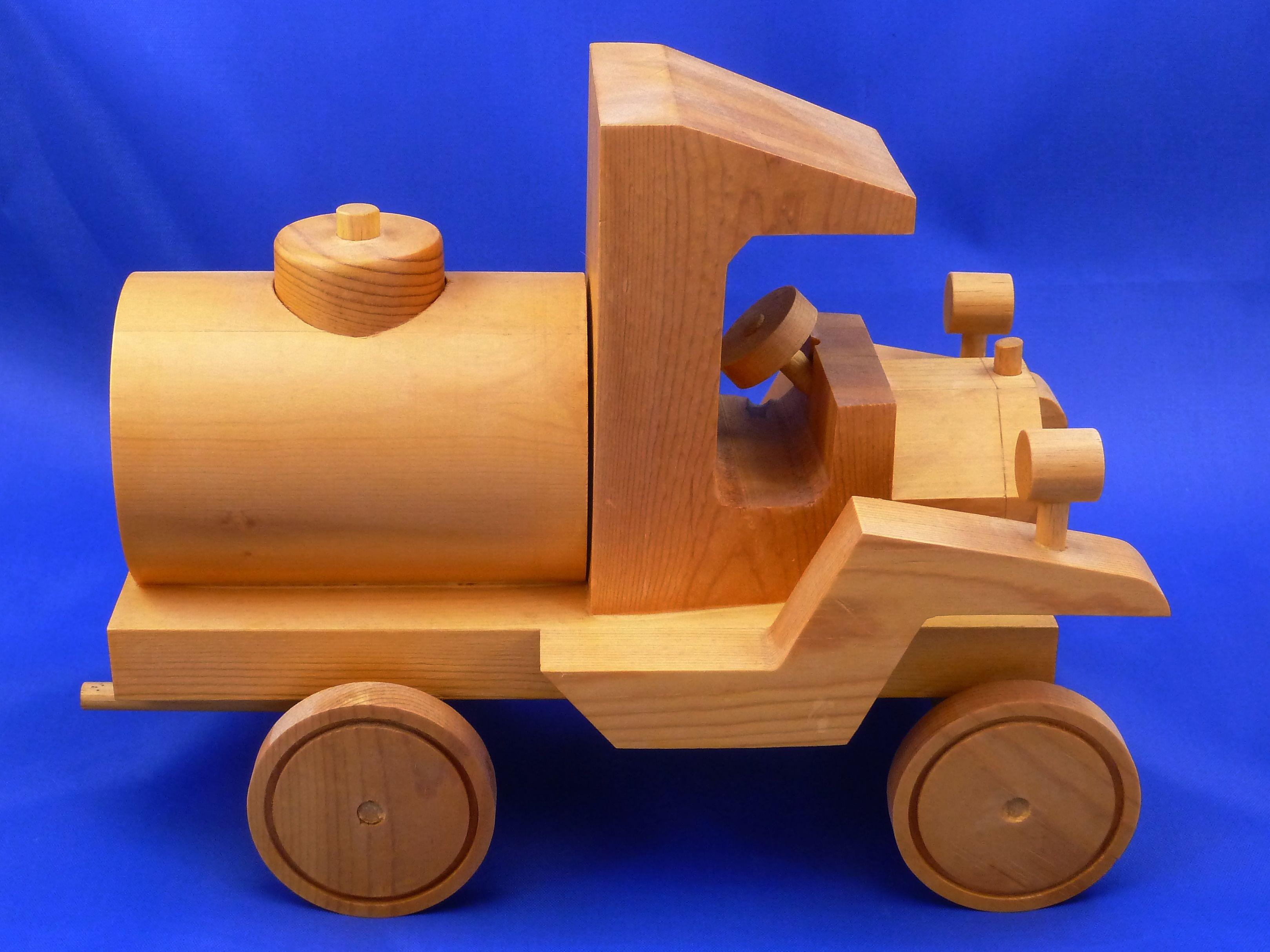 Handmade Wooden Toy Truck Norm Marshall Design Model T Tank Truck