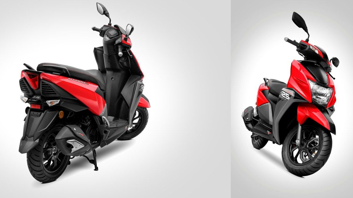 New Metallic Red Colour Option For The Tvs Ntorq 125 Color