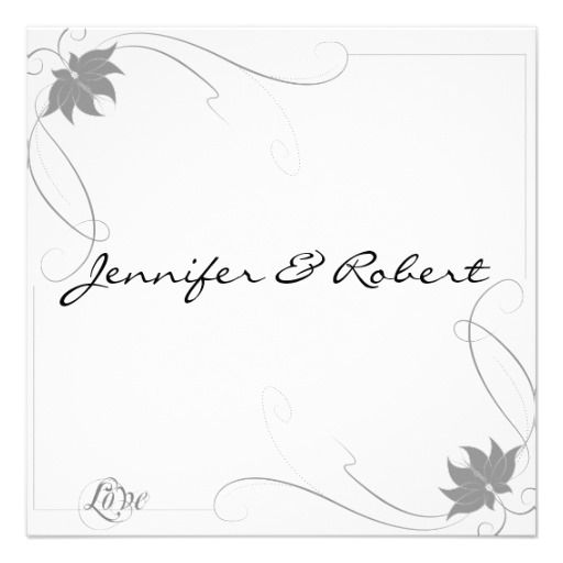 Classic Love in Grey Wedding Invitation Grey weddings, Wedding - creating an invitation in word