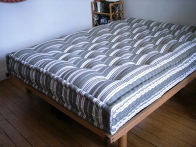 Handmade Mattresses Stuffed With Wool Unstuffed Washed Carded And Re Stuffed Every Few Years Wool Mattress Diy Mattress Diy Bed