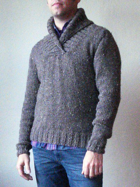 Men's BIG Shawl Collar Pullover pattern by Josh Bennett ...