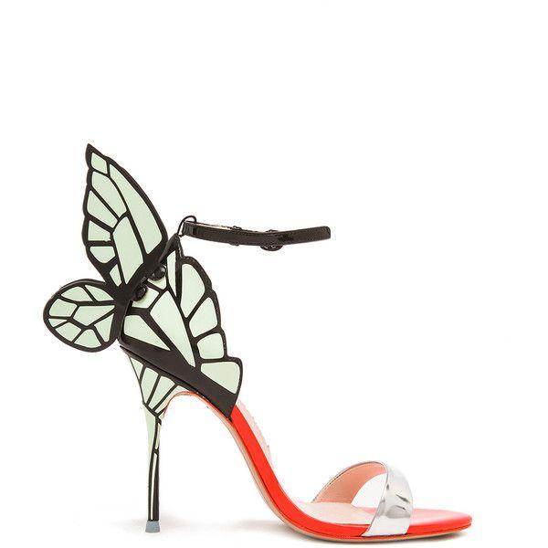 Sophia Webster Chiara Leather Heels ($580) ❤ liked on Polyvore