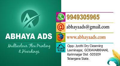 Abhaya Ads Visitng Cards Design Sample Template01 Abhayaads