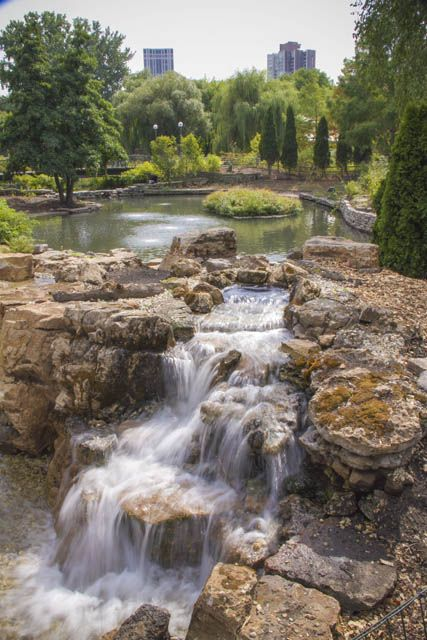 Waterfall Created By Aquascape And Certified Aquascape Contractors At  Lincoln Park Zoo In Chicago During Pondemonium
