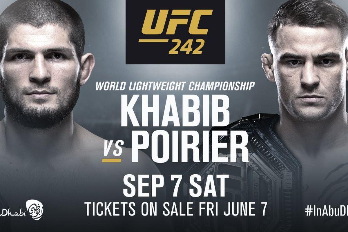 Watch UFC 242 Nurmagomedov vs Poirier Live Stream Free