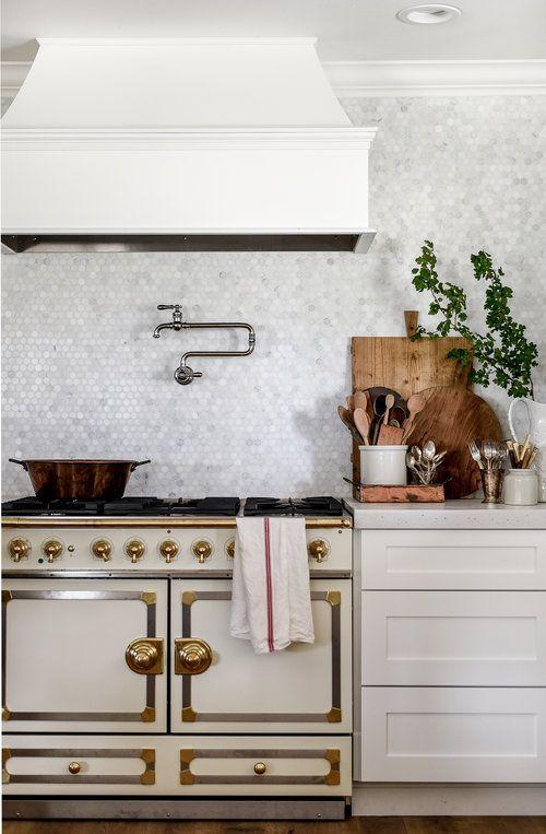 Kohler S Artifacts Pot Filler La Cornue Stove A Remodeled Farmhouse Kitchen Boxwoodavenue Read It