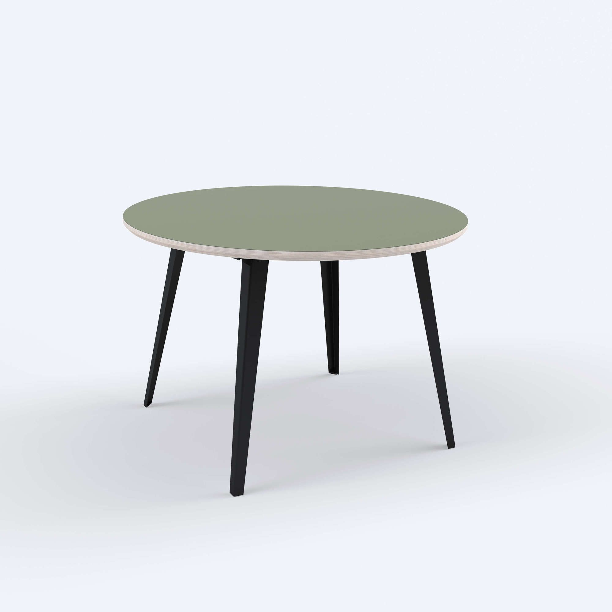 6 person dining table fog black floyd  round dining