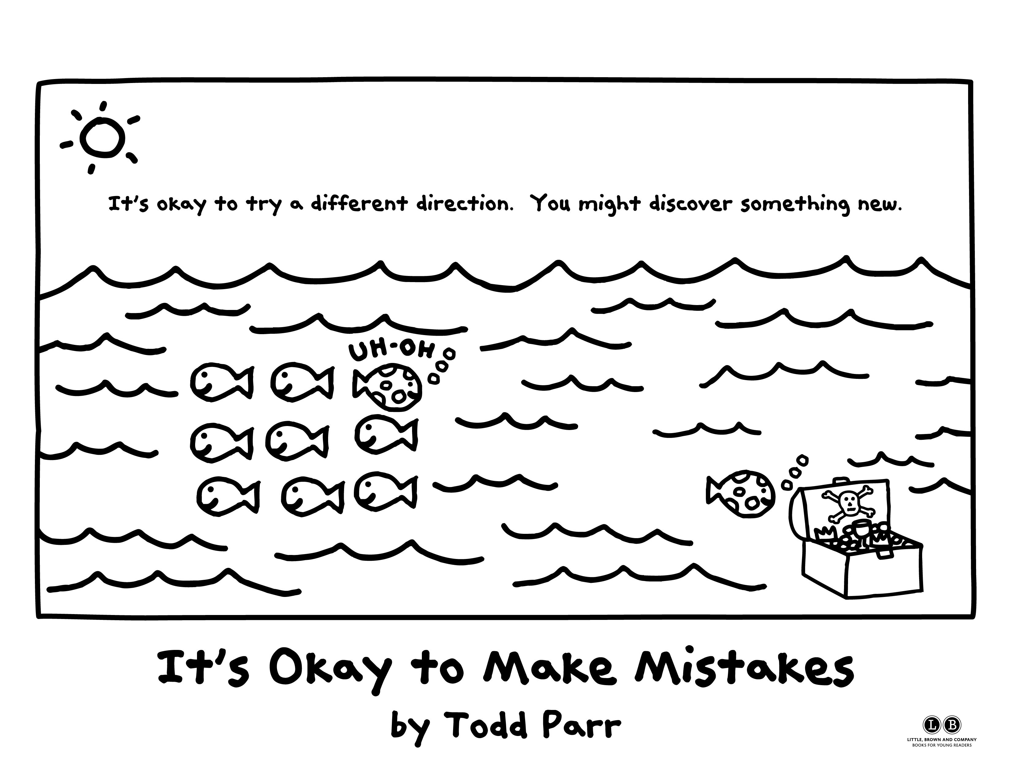 Coloring Pages From It Okay To Make Mistakes By Todd Parr