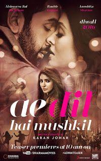 Ae Dil Hai Mushkil - Download Indian Movie 2016 Print : DVD