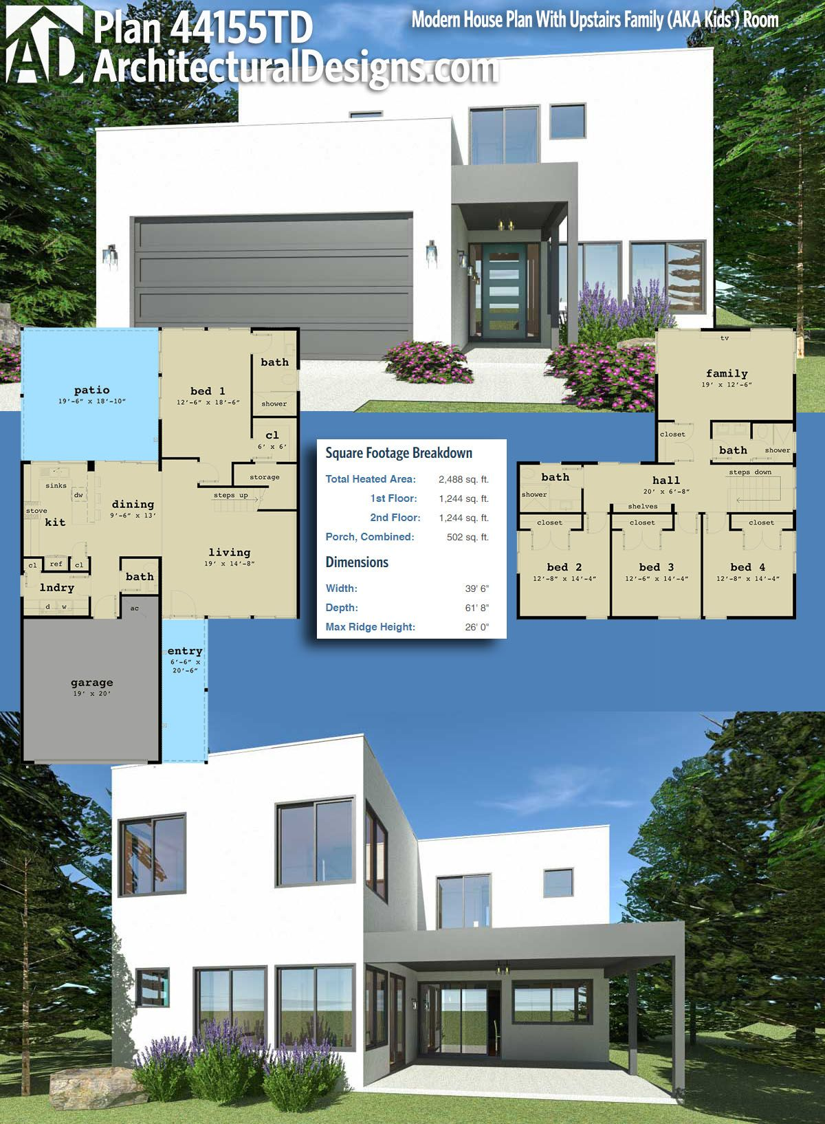 Architectural Designs Modern House Plan 44155TD gives