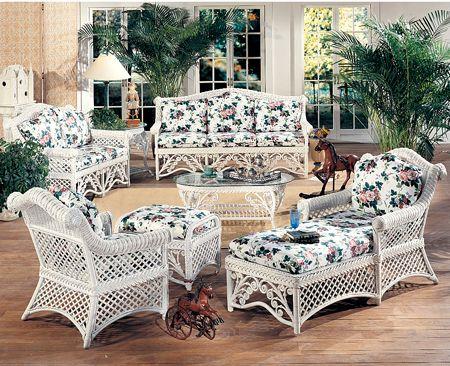 Rattan Sofa Wicker Table, Indoor White Wicker Furniture
