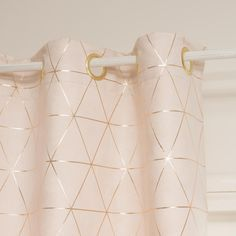 rideau illets beige or 135 x 250 cm tissu rose rose. Black Bedroom Furniture Sets. Home Design Ideas