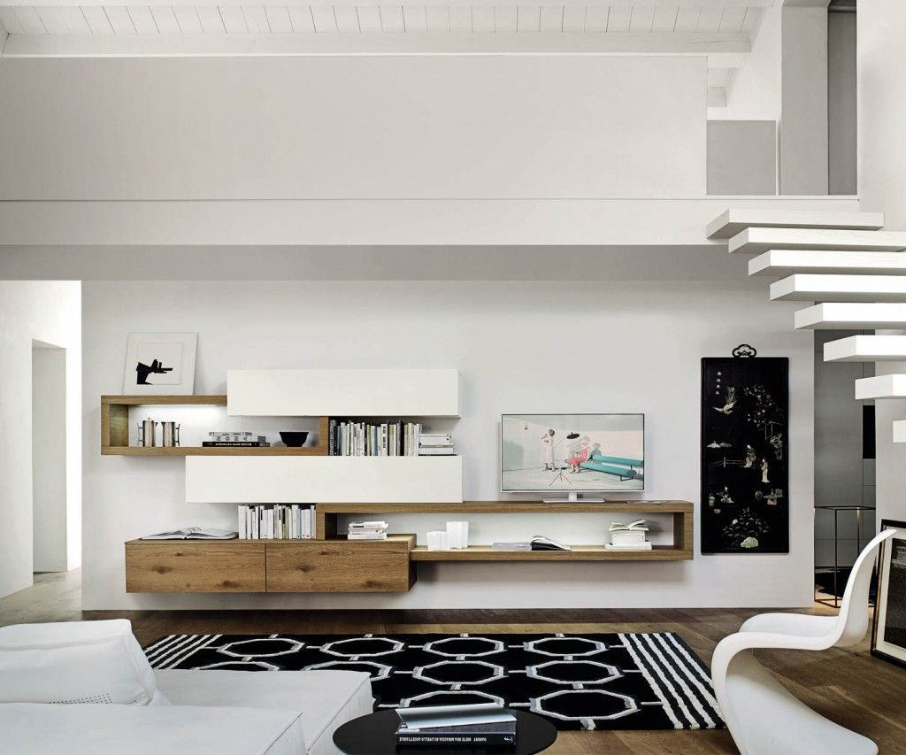 Wohnzimmer cafebar ~ Schwebende design wohnwand c wohnzimmer
